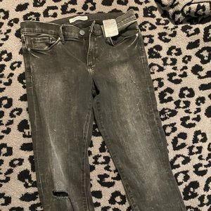 Banana republic skinny jeans 6/28 black/gray